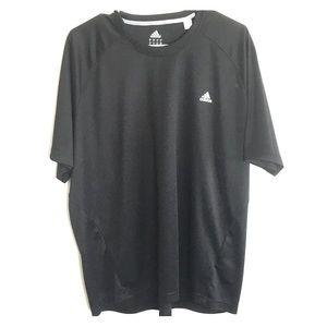 Mens Black Adidas Clima T Shirt
